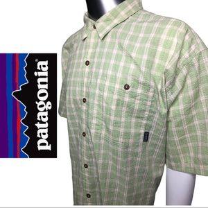 Patagonia Men's Button Down Shirt Plaid Shirt